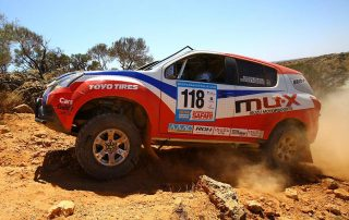 The Isuzu Rally Team MU-X runs ROH Terrain alloy wheels for top reliability.