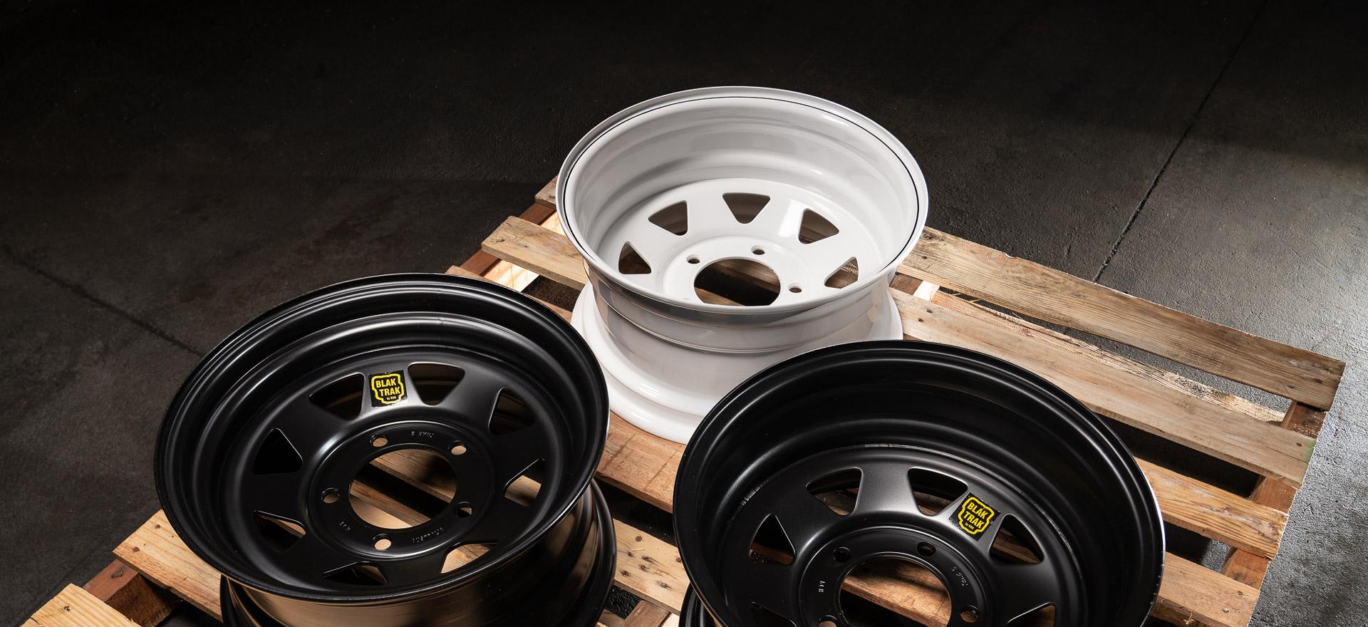 White-steel-wheel