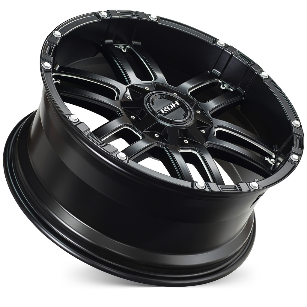 ROH Patriot 4x4 wheel concave with flat cap