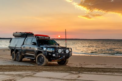 LandCruiser wheels 200 Series ROH 6x6 beach sunset