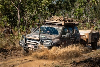 ROH All4Adventure Isuzu DMax Vapour wheel muddy creek