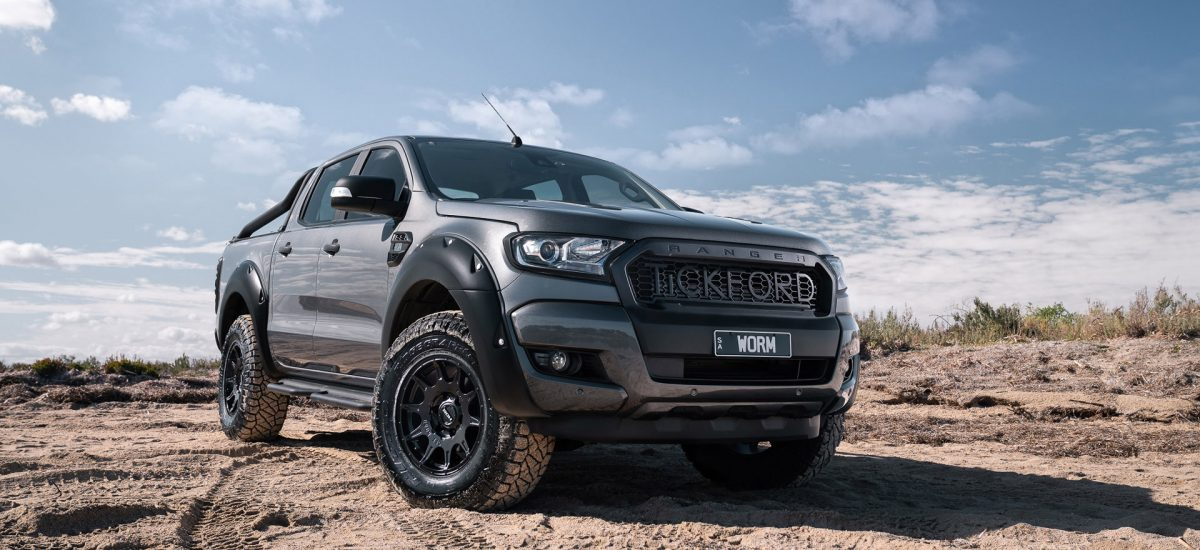 ROH Invader flow forged wheel on gunmetal Ford Ranger hero shot