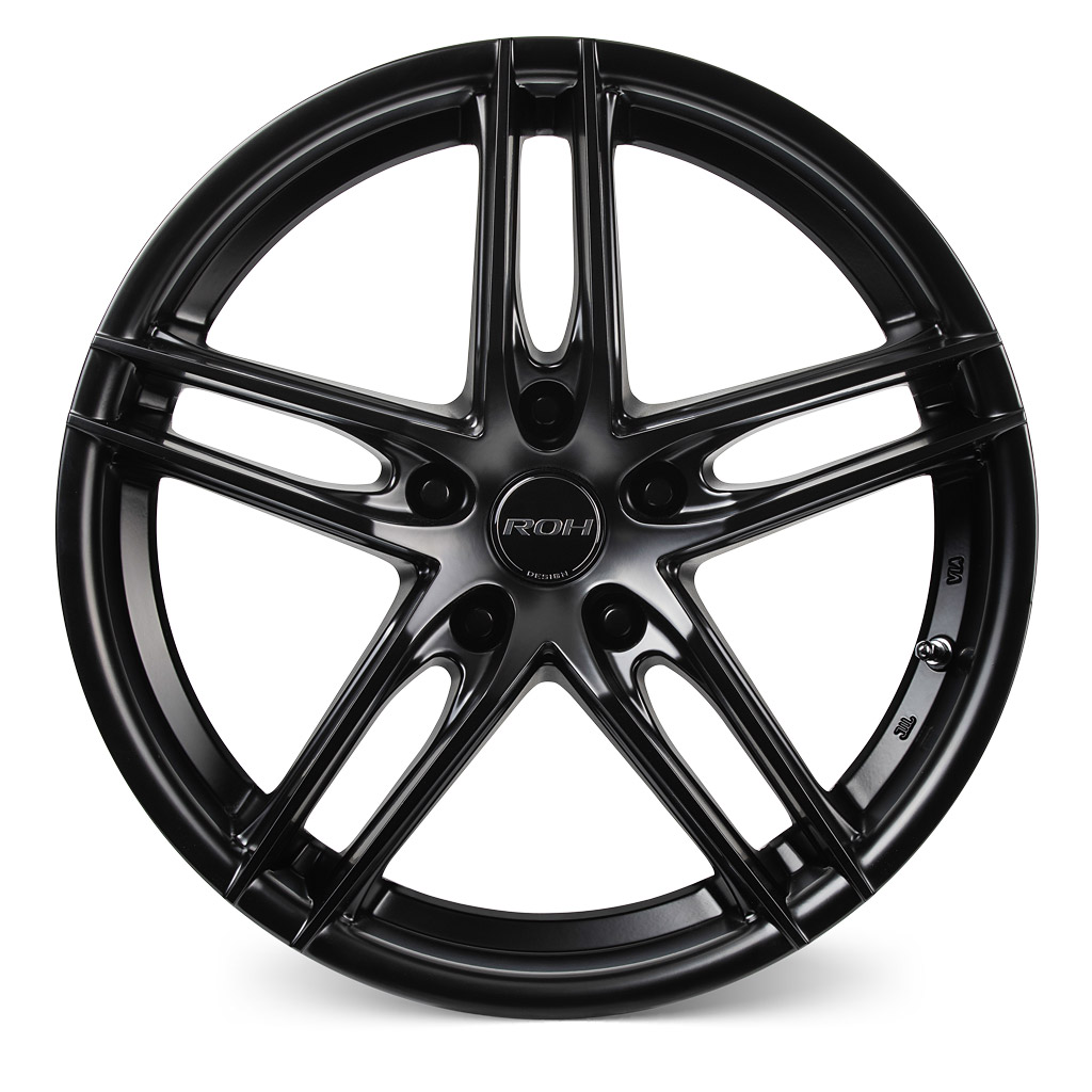 ROH Monaco black alloy wheel front view