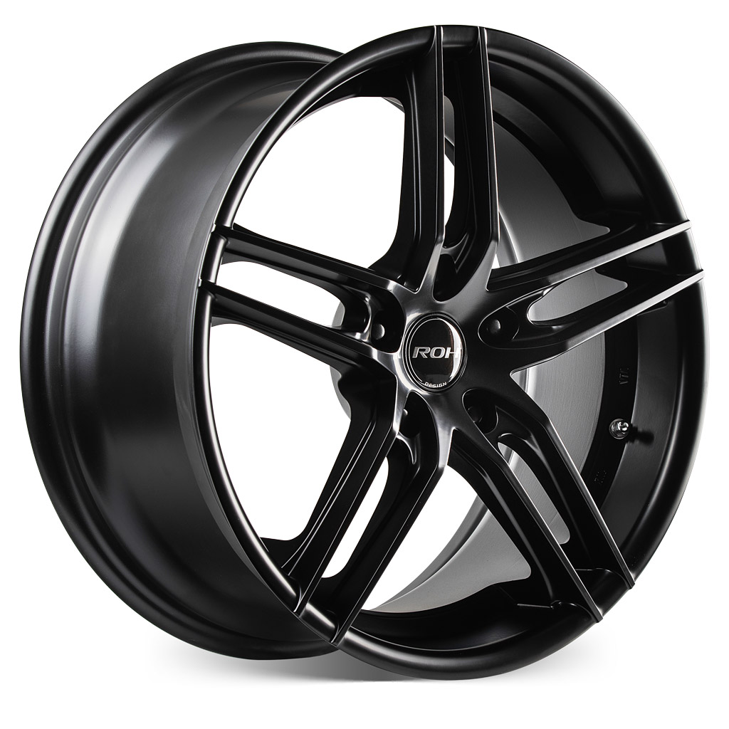ROH Monaco black alloy wheel with more Angle