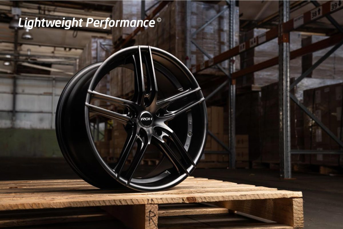 ROH Monaco matt black wheel on pallet