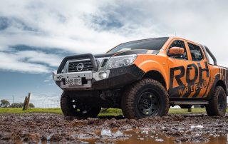NP300 Navara in Mud on ROH Steel-wheels