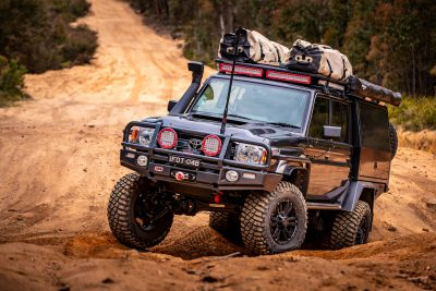 ROH 4WD Vapour wheels in action on 79 Series LandCruiser