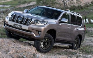 Toyota Prado with ROH Blak Trak Steel Wheels