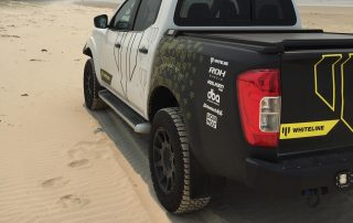 ROH Flow forged 4x4 wheel on Navara at the beach