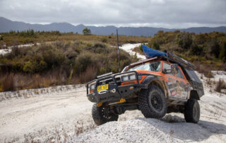 Toyota HiLux steel wheels Offroad Adventure Show on gravel
