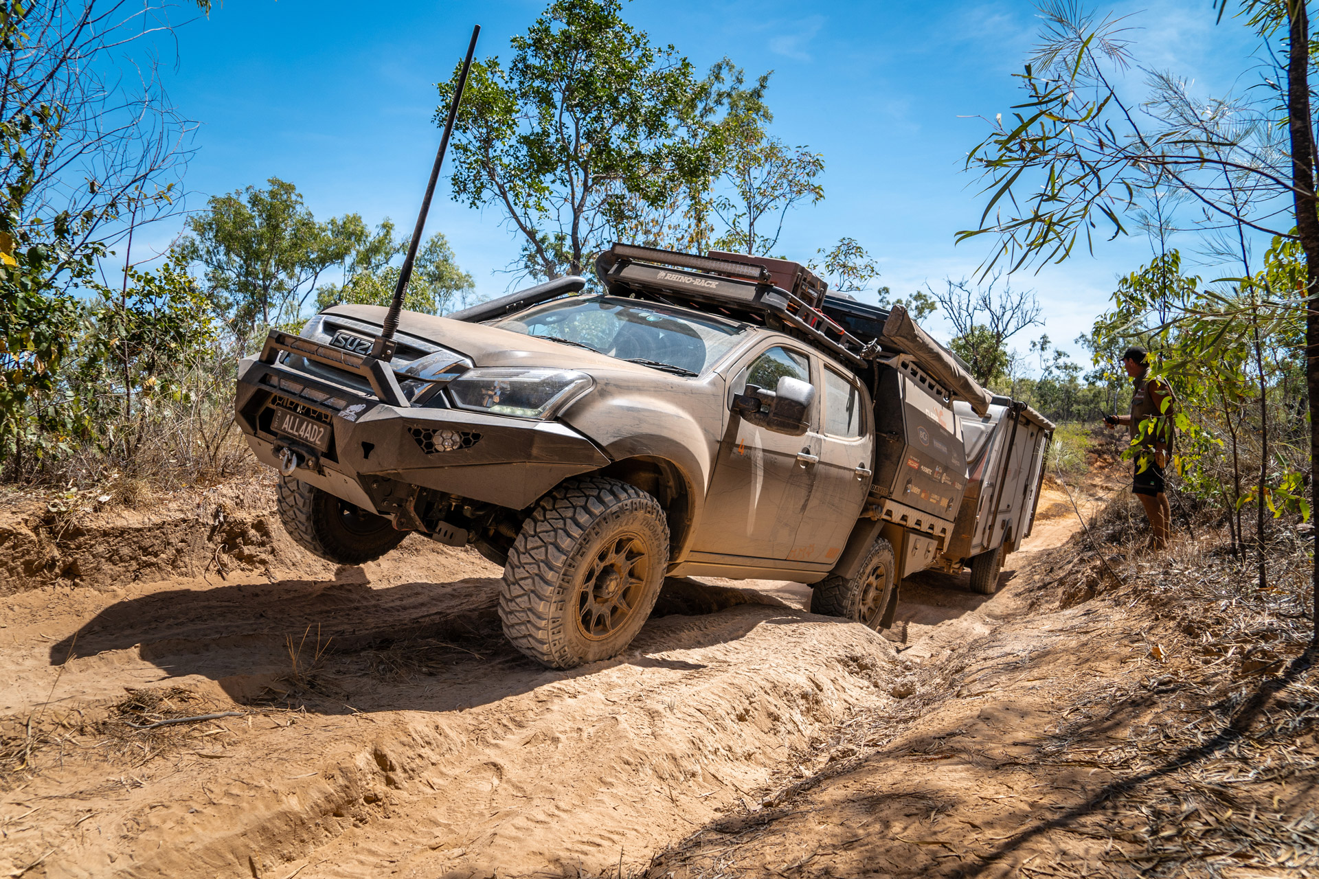 All 4 Adventure Isuzu DMax offroading with Invader wheels