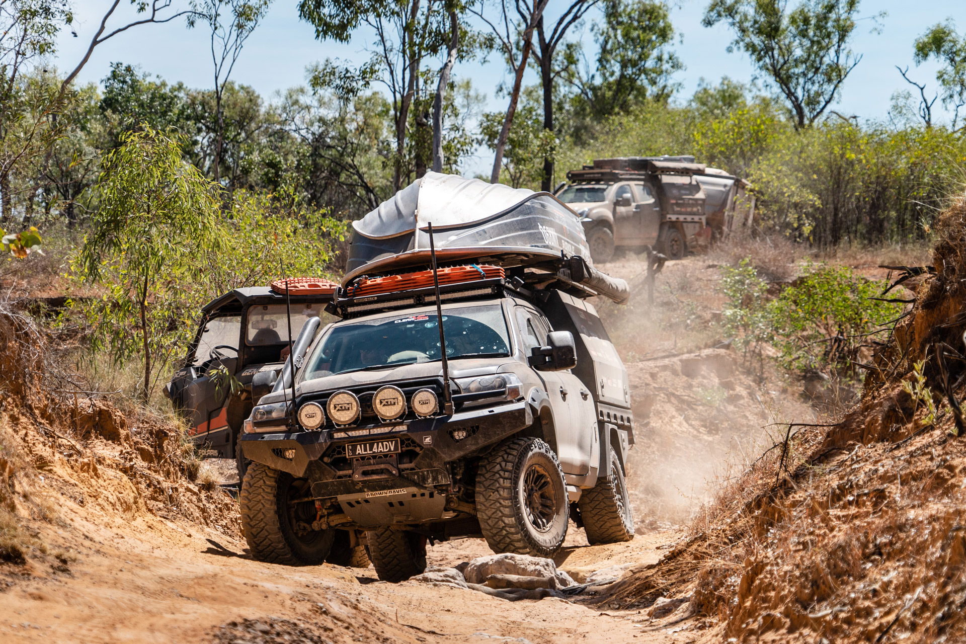 All 4 Adventure LandCruiser offroading with Vapour wheels