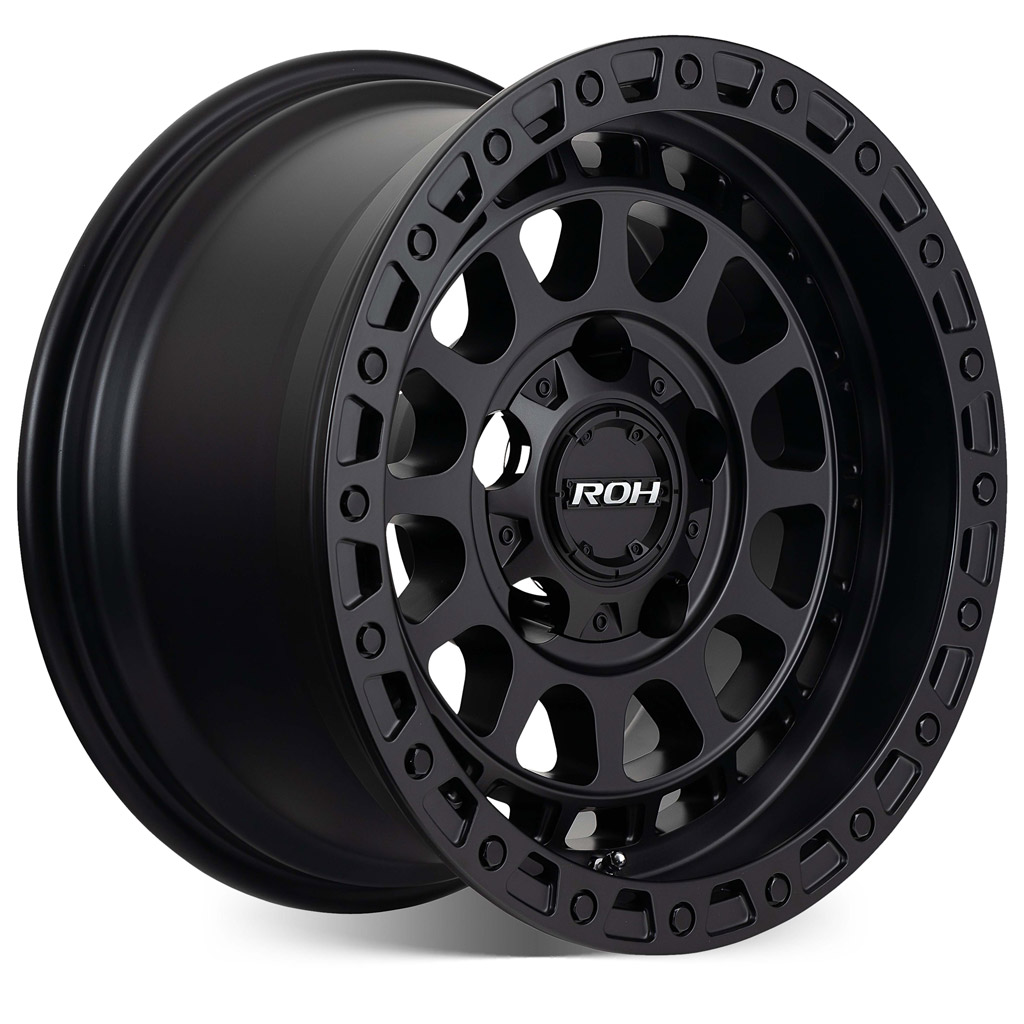 Assault matt black 4x4 wheel on more angle