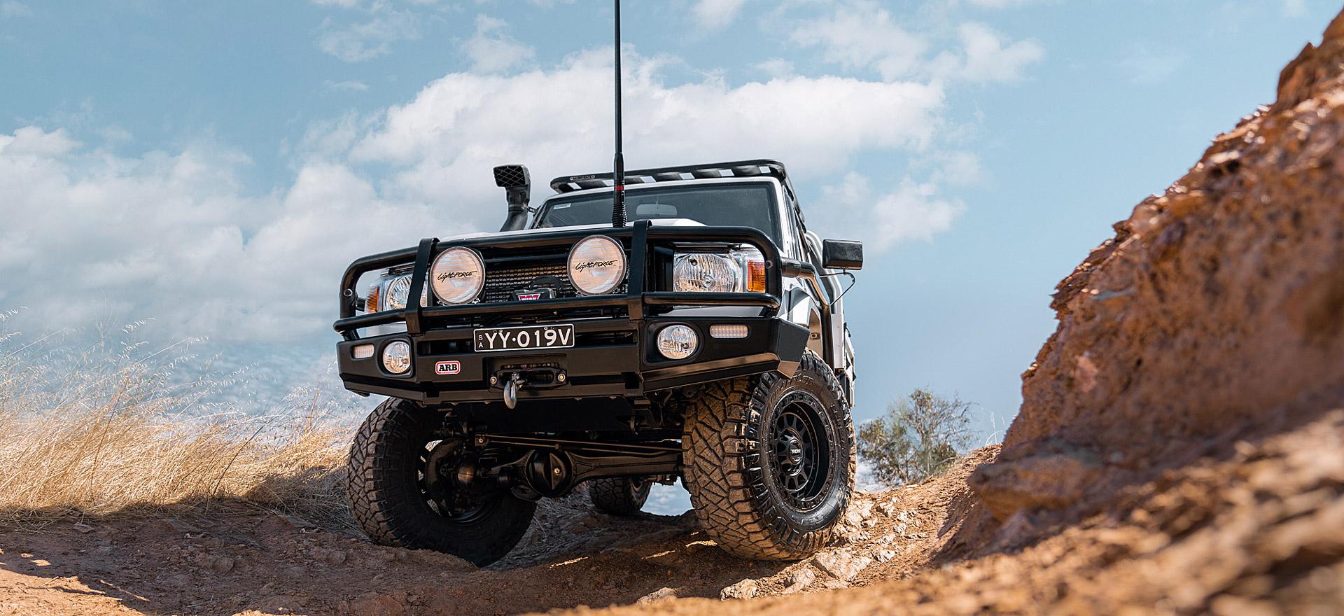 Assault wheels 79 Series LandCruiser rocky ridge