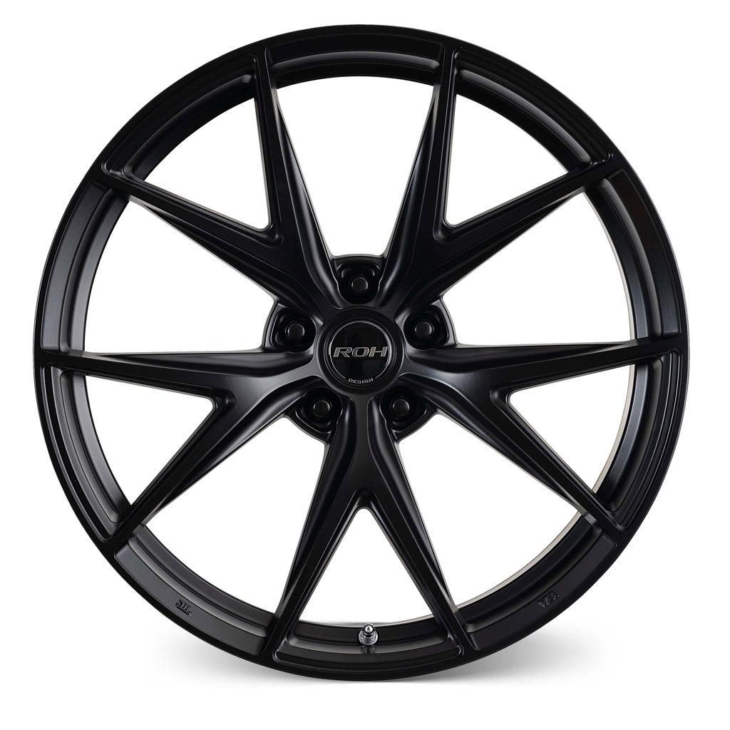 Forza black alloy wheel front view