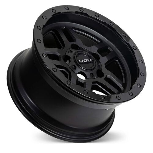 Hammer matt black with gloss lip 4x4 wheel on concave angle