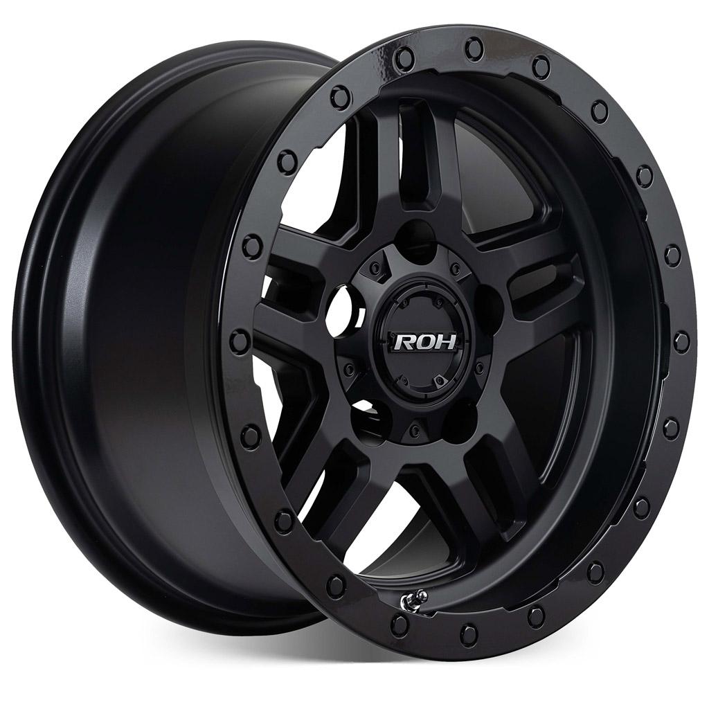Hammer matt black with gloss lip 4x4 wheel on more angle