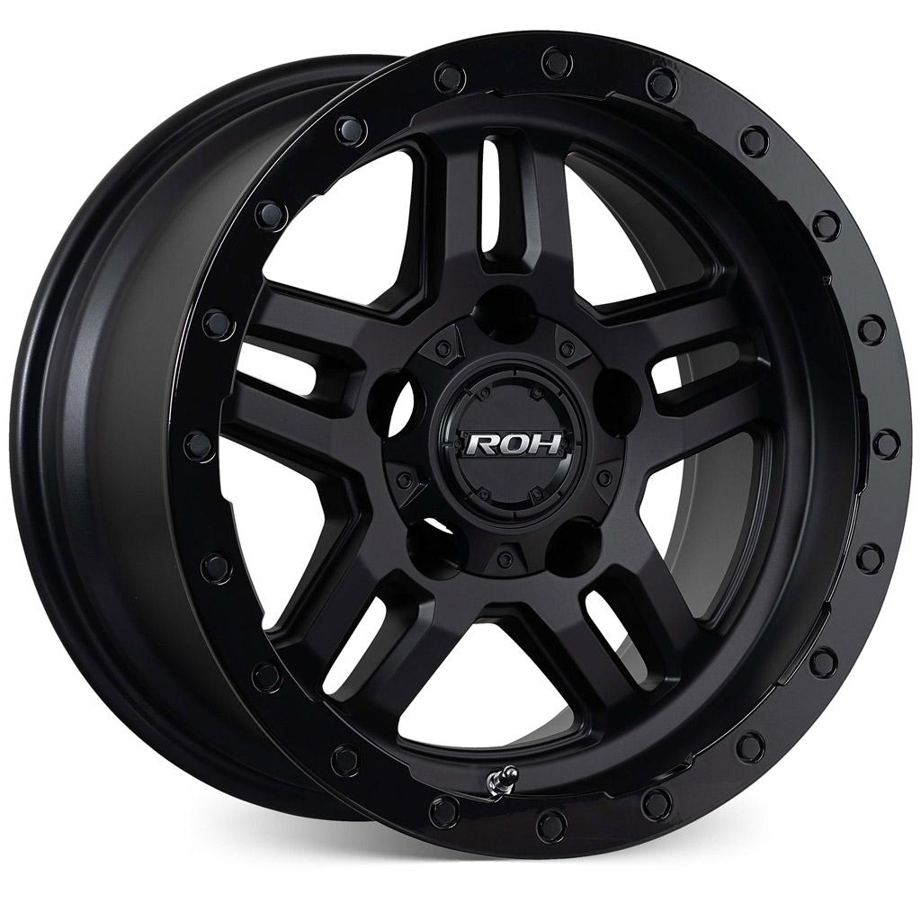 Hammer matt black with gloss lip 4x4 wheel