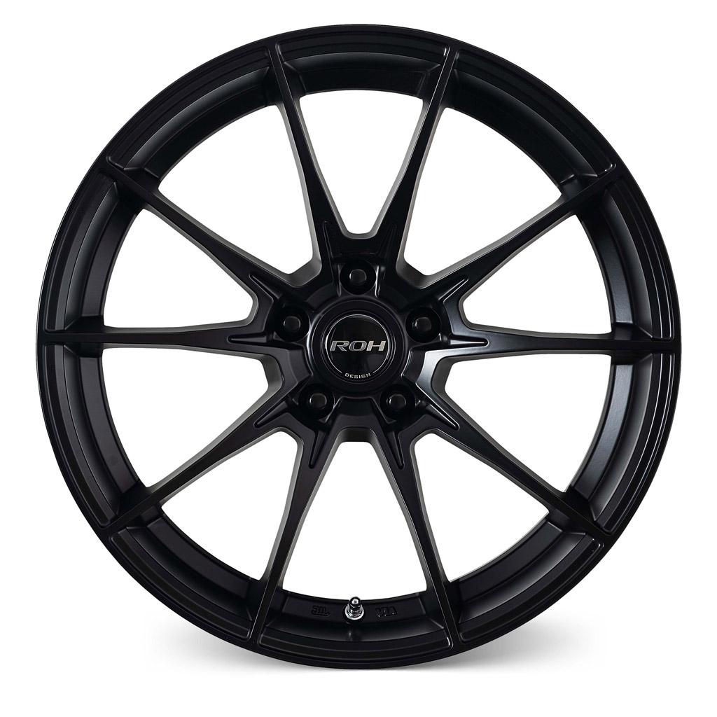 Pursuit black alloy wheel front view
