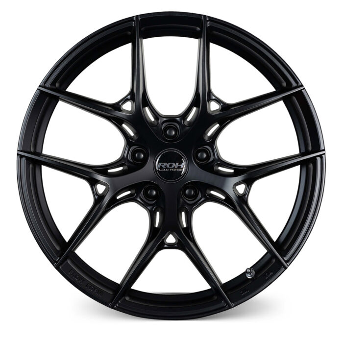 RF6 black flow forged rim front view