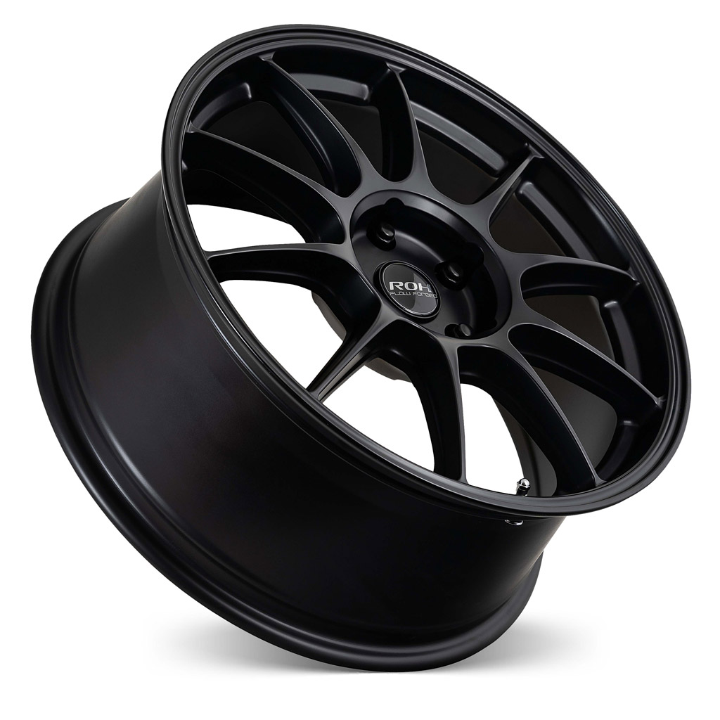 RF7 black flow forged wheel concave