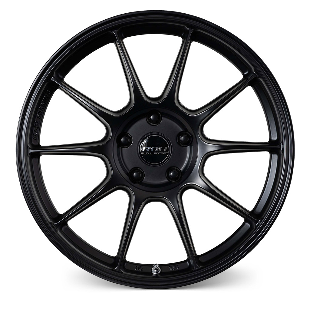 RF7 black flow forged wheel front view
