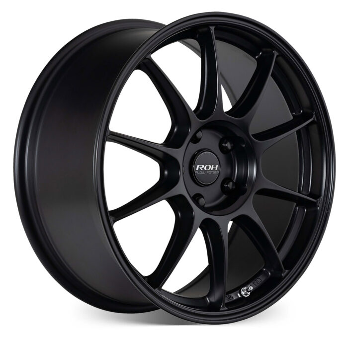 RF7 black flow forged wheel on more angle