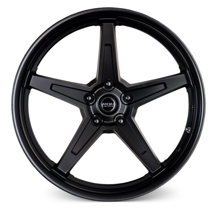 RF5 black flow forged rim front view