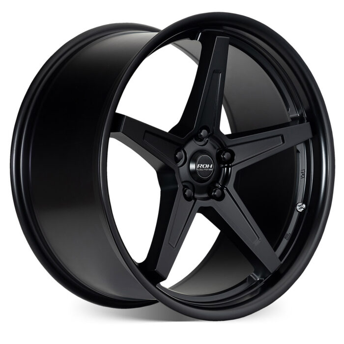 RF5 black flow forged rim on more angle
