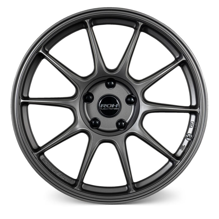 RF7 gunmetal flow forged wheel front view