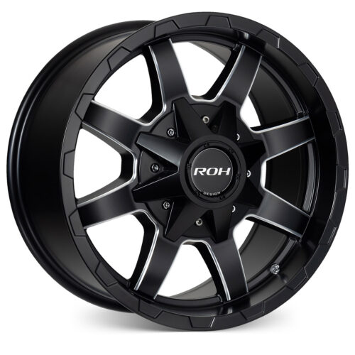 Rhino matt black milled 4x4 wheel