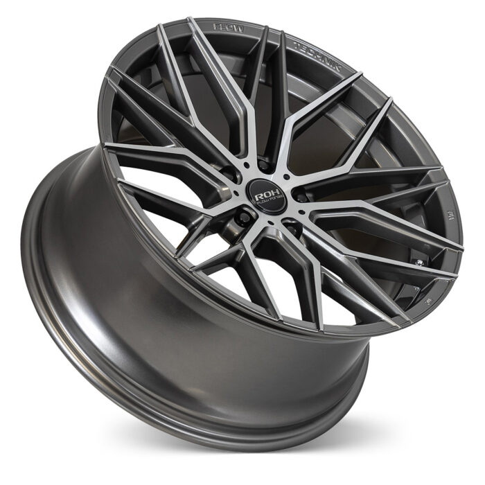 RF4 gunmetal machined face flow forged wheel on concave angle