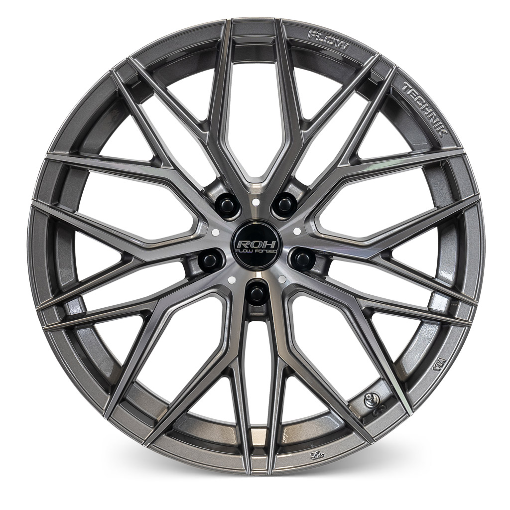 RF4 gunmetal machined face flow forged wheel front view