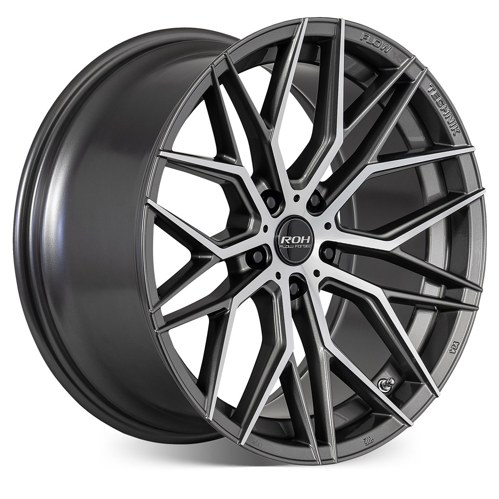 RF4 gunmetal machined face flow forged wheel on more angle