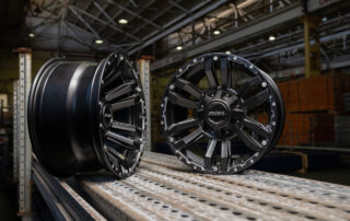 Vapour True track wheels in warehouse