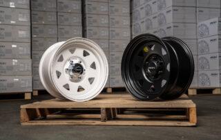 17x9 steel wheels in the warehouse